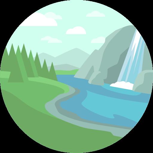 Địa danh thác nước, núi
